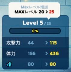 LINEレンジャー MAXレベル増加